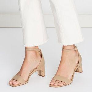 Sam Edelman Holmes Square Toe Block Sandal Heels 9
